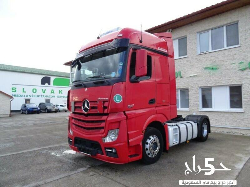 للبيع بحالة نادرة شاحنه مرسيدس اكتروس 1845 mp4 بمكيف مستقل موديل 2013